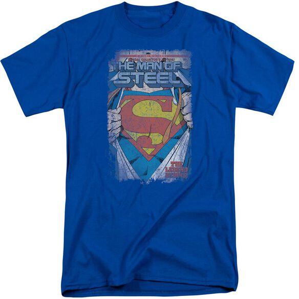 Superman Legendary Short Sleeve Adult Tall Royal T-Shirt