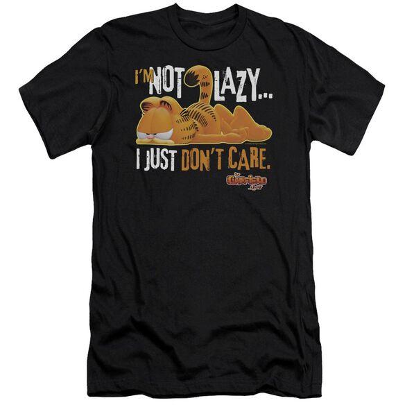 GARFIELD NOT LAZY - S/S ADULT 30/1 - BLACK T-Shirt