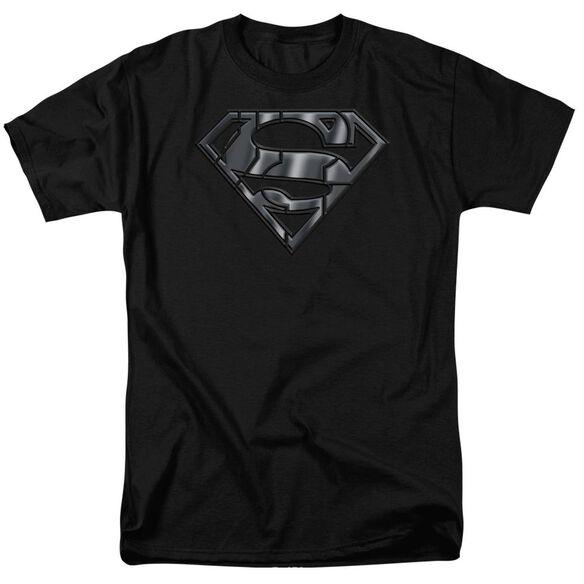 SUPERMAN MECH SHIELD - S/S ADULT 18/1 - BLACK T-Shirt