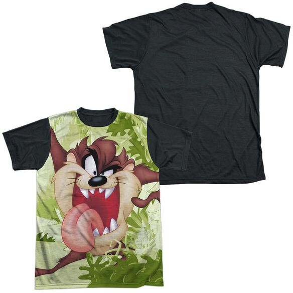 Looney Tunes Taz Short Sleeve Adult Front Black Back T-Shirt