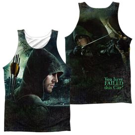 Arrow Hero (Front Back Print) Adult 100% Poly Tank Top