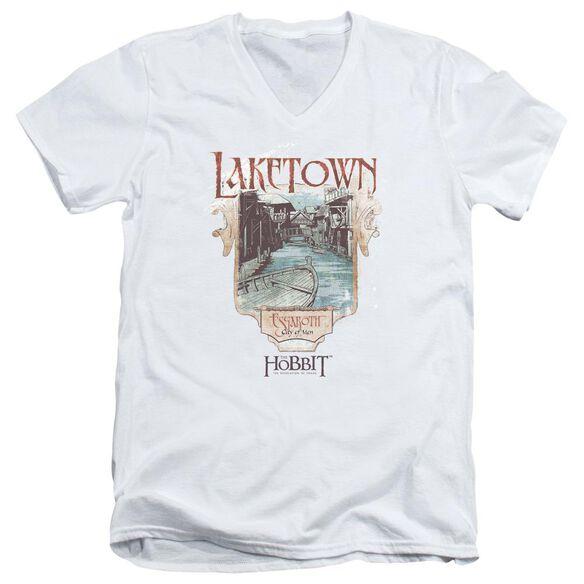 Hobbitlaketown Short Sleeve Adult V Neck T-Shirt
