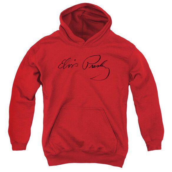 Elvis Presley Signature Sketch Youth Pull Over Hoodie