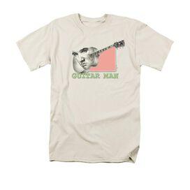 Elvis Guitar Man Short Sleeve Adult Cream T-Shirt