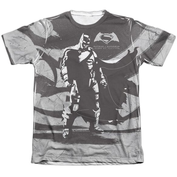Batman V Superman Batman Contrast Adult Poly Cotton Short Sleeve Tee T-Shirt