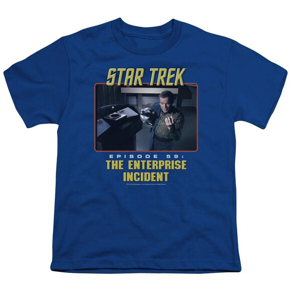 St Original The Enterprise Incident Short Sleeve Youth Royal T-Shirt