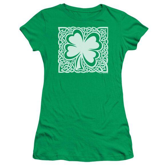 Celtic Clover Short Sleeve Junior Sheer Kelly T-Shirt