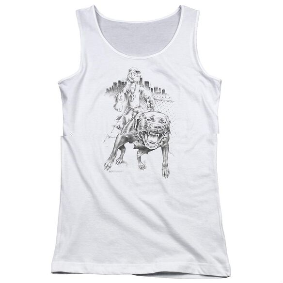 Popeye Walking The Dog Juniors Tank Top