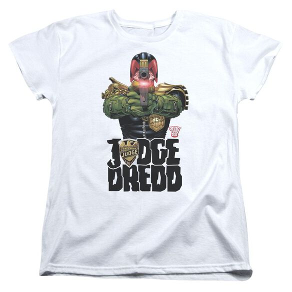 Judge Dredd In My Sights Short Sleeve Womens Tee T-Shirt