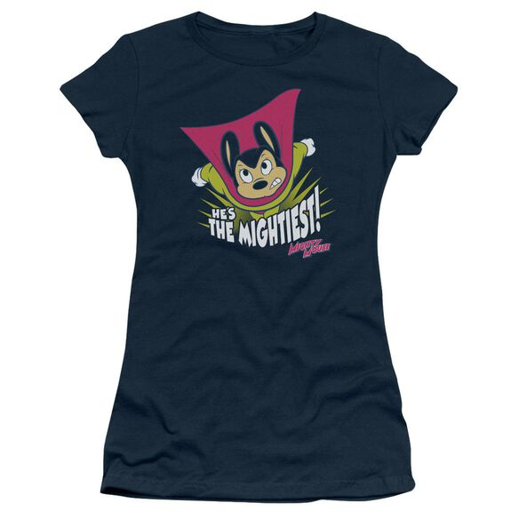 Mighty Mouse The Mightiest Short Sleeve Junior Sheer T-Shirt