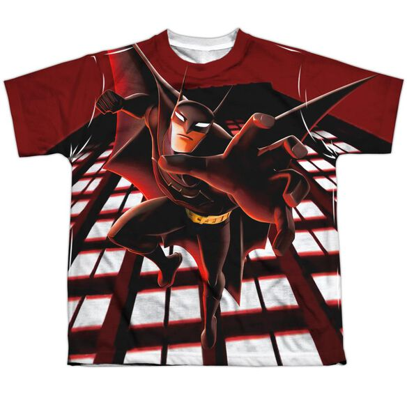 Beware The Batman City Protector Short Sleeve Youth Poly Crew T-Shirt