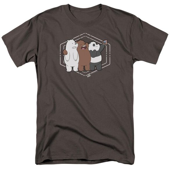 We Bare Bears Selfie Short Sleeve Adult Charcoal T-Shirt
