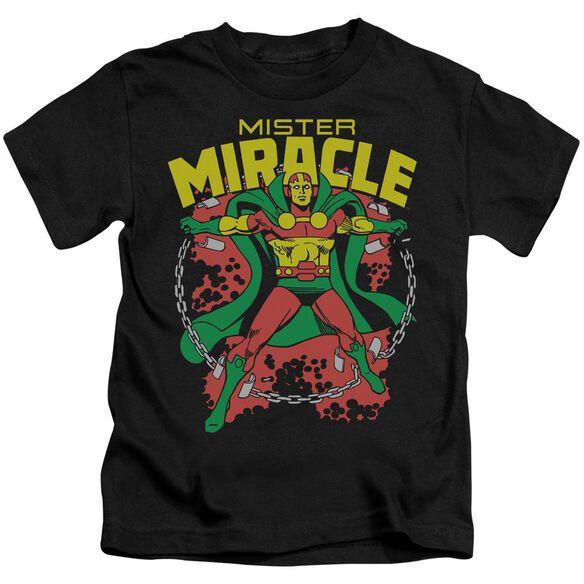 Dc Mr Miracle Short Sleeve Juvenile Black T-Shirt