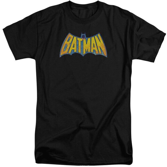 Dco Batman Neon Distress Logo Short Sleeve Adult Tall T-Shirt