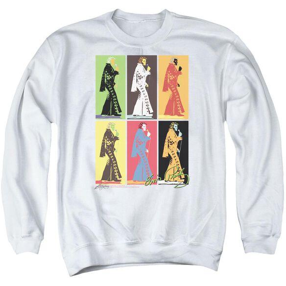 Elvis Retro Boxes Adult Crewneck Sweatshirt