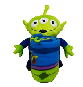 Toy Story Alien Character Pillow and Fleece Throw Set