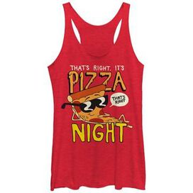 Uncle Grandpa Pizza Night Tank Top Juniors T-Shirt