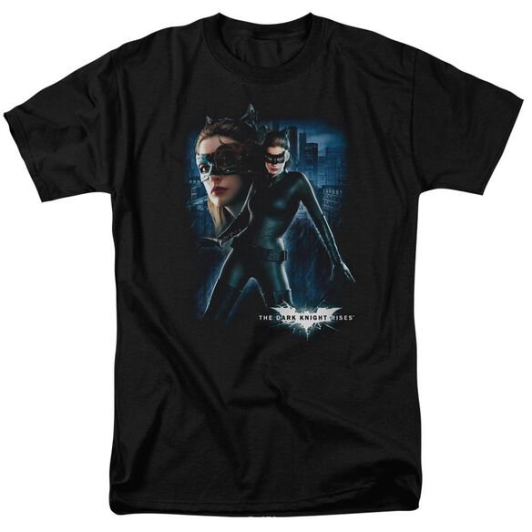 Dark Knight Rises Catwoman Short Sleeve Adult Black T-Shirt
