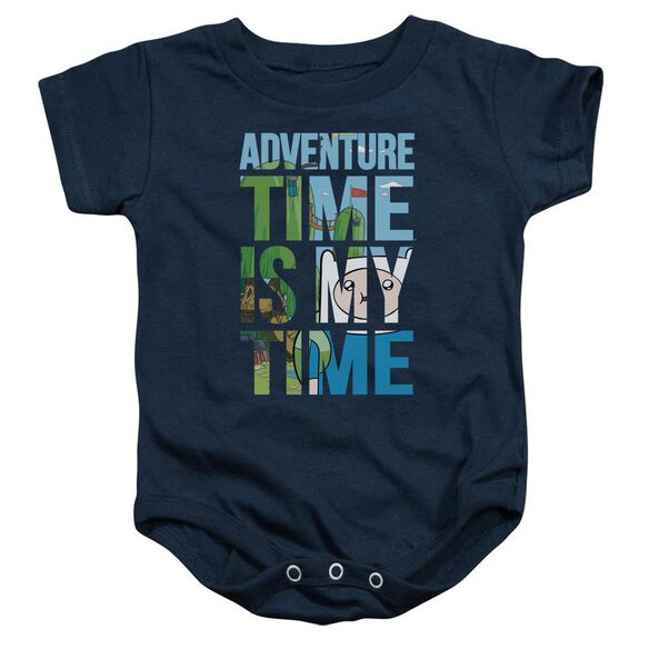 Adventure Time My Time Infant Snapsuit Navy