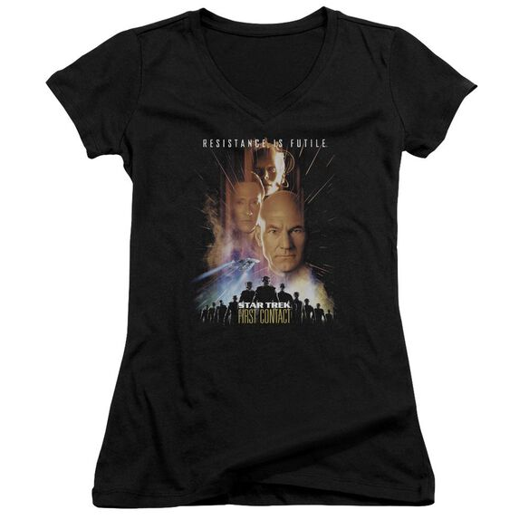 Star Trek First Contact(Movie) Junior V Neck T-Shirt