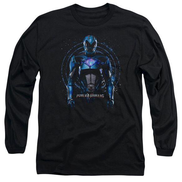 Power Rangers Blue Ranger Long Sleeve Adult T-Shirt
