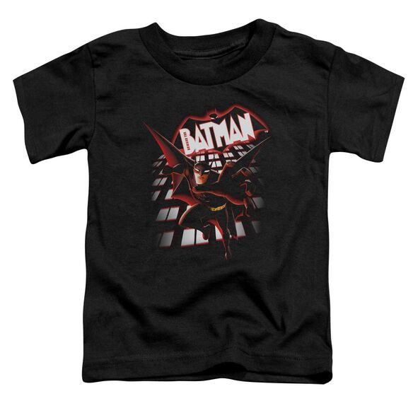 Beware The Batman From The Top Short Sleeve Toddler Tee Black T-Shirt