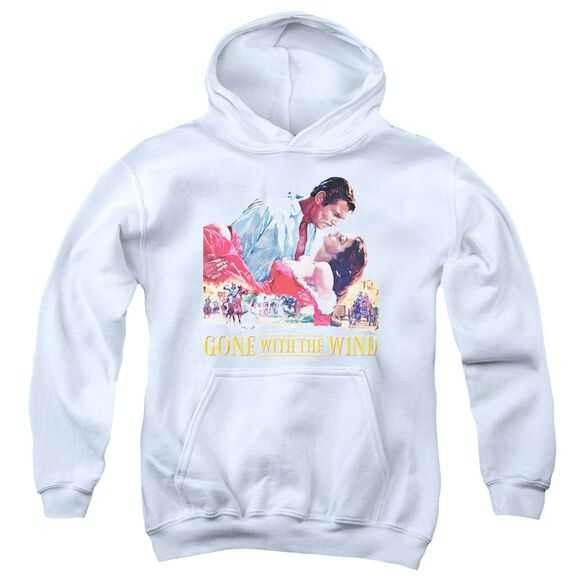 Gone With The Wind On Fire Youth Pull Over Hoodie