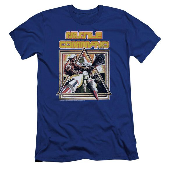 Atari Missle Commander Premuim Canvas Adult Slim Fit Royal