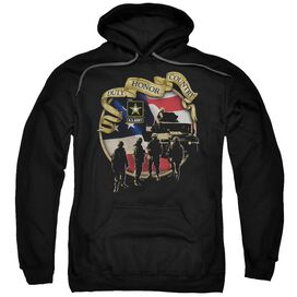 Army Duty Honor Country Adult Pull Over Hoodie Black