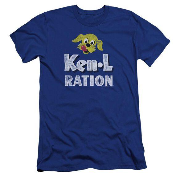 Ken L Ration Distressed Logo Premuim Canvas Adult Slim Fit Royal