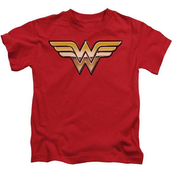 Jla Golden Short Sleeve Juvenile Red Md T-Shirt