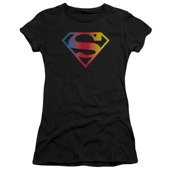 Superman Gradient Superman Logo Premium Bella Junior Sheer Jersey
