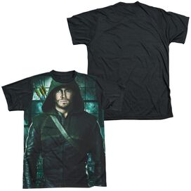 Arrow Two Sides Short Sleeve Adult Front Black Back T-Shirt