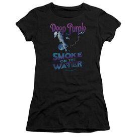 Deep Purple Smokey Water Hbo Short Sleeve Junior Sheer T-Shirt