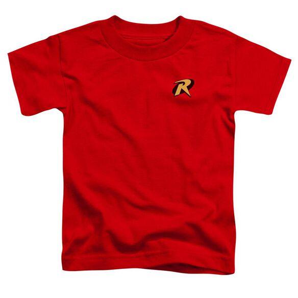 Batman Robin Logo Short Sleeve Toddler Tee Red Lg T-Shirt