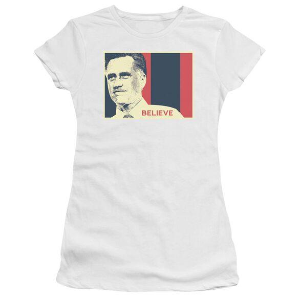 Believe Again Short Sleeve Junior Sheer T-Shirt