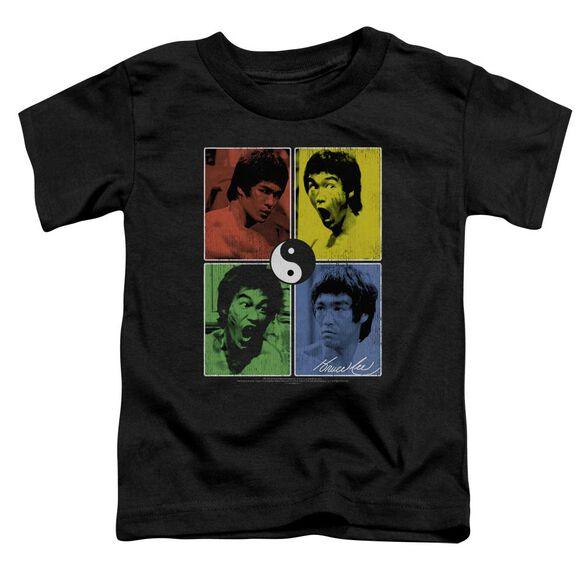 Bruce Lee Enter Color Block Short Sleeve Toddler Tee Black Md T-Shirt