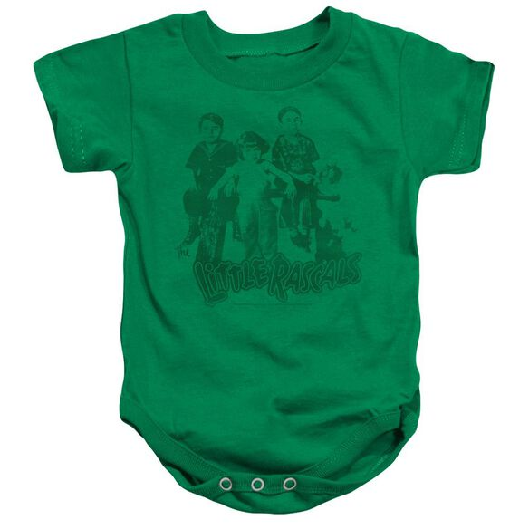 Little Rascals The Gang Infant Snapsuit Kelly Green Sm