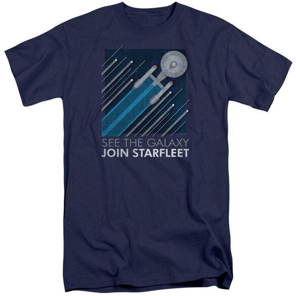 Star Trek Starfleet Recruitment Poster Short Sleeve Adult Tall T-Shirt