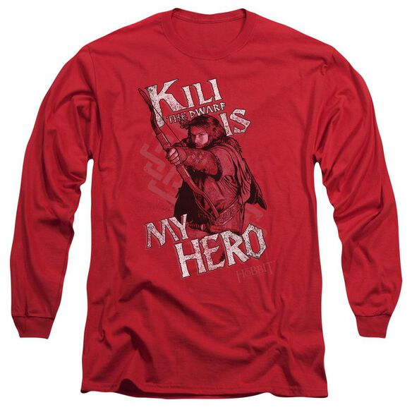 The Hobbit Kili Is My Hero Long Sleeve Adult T-Shirt