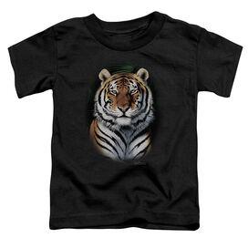 Wildlife Jungle Fire Short Sleeve Toddler Tee Black T-Shirt