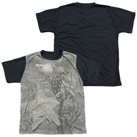 ARMY COUNTRYS CALL-S/S YOUTH WHITE FRONT BLACK BACK T-Shirt