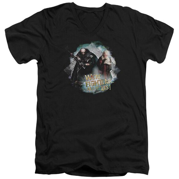 The Hobbit We're Fighers Short Sleeve Adult V Neck T-Shirt