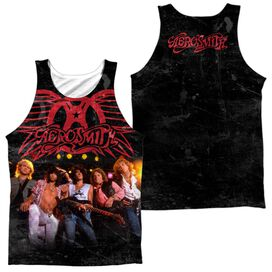 Aerosmith Stage (Front Back Print) Adult 100% Poly Tank Top
