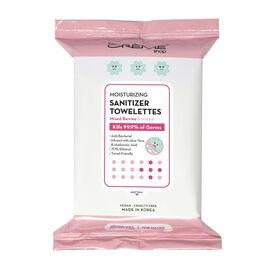 Moisturizing Sanitizer 20 Pre-Wet Towelettes - Mixed Berries Scented For Hands & Surfaces