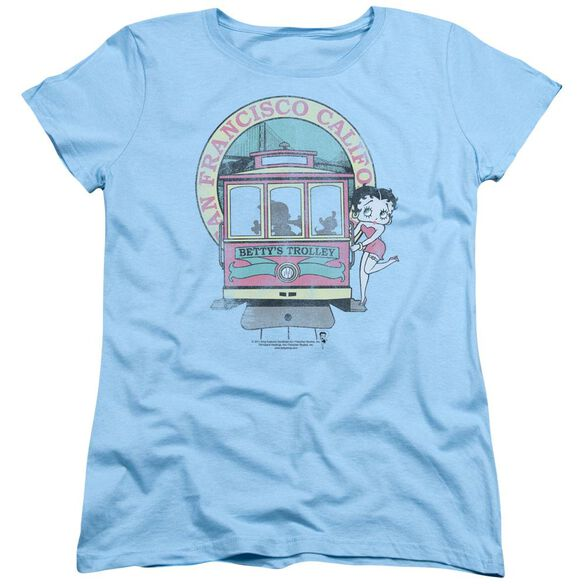 Betty Boop Betty's Trolley Short Sleeve Women's Tee Light T-Shirt