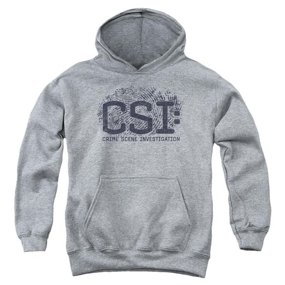 Csi Distressed Logo Youth Pull Over Hoodie