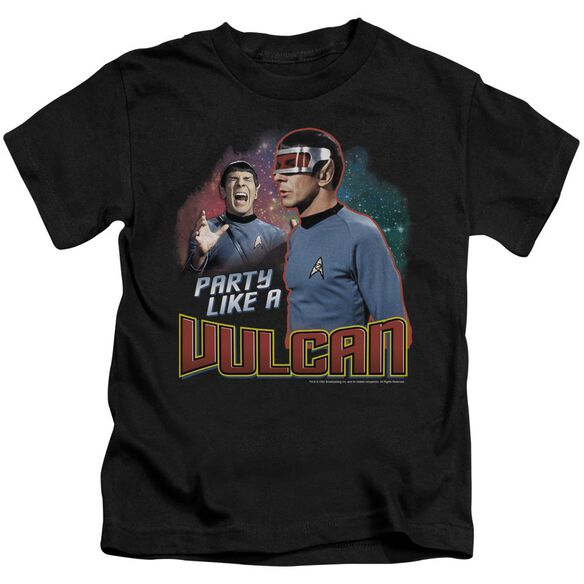 Star Trek Party Like A Vulcan Short Sleeve Juvenile Black T-Shirt