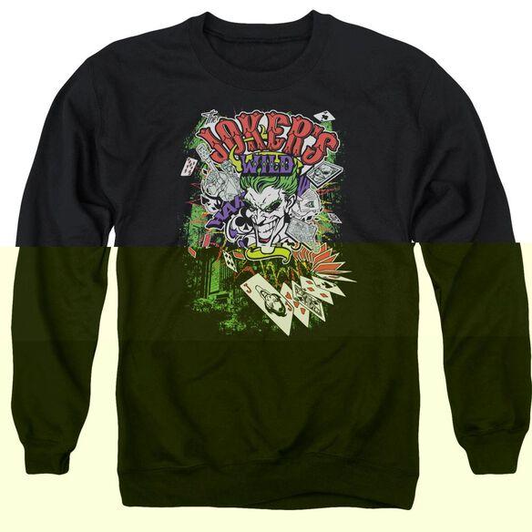 Batman Jokers Wild - Adult Crewneck Sweatshirt - Black