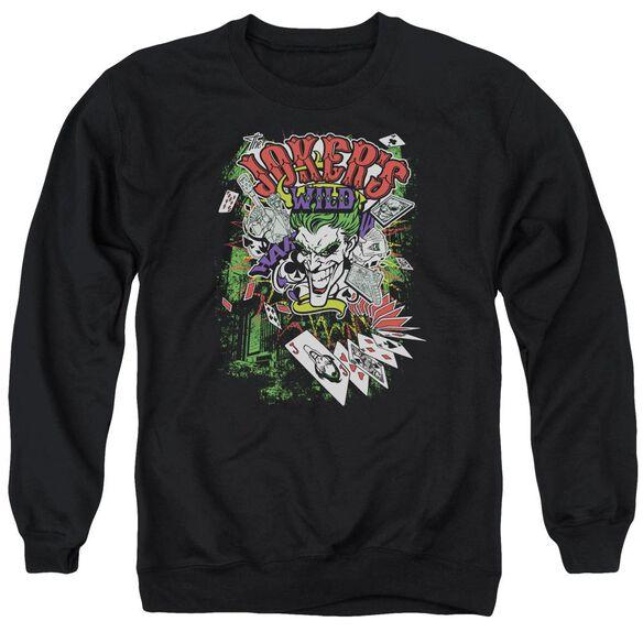 Batman Jokers Wild Adult Crewneck Sweatshirt
